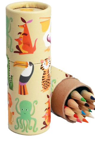 Colourful Creatures Tube of Pencils