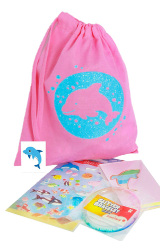 Pre Filled Fabric Party Bag Dolphin - The Little Things