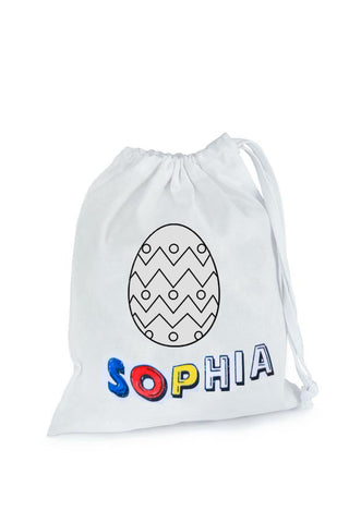 Personalised Easter Colour In Fabric Bag ( Comes with 4 fabric markers)