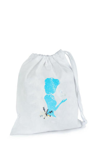 Ice Queen/ Ice Princess Fabric Party Bag (Inspired by Elsa)