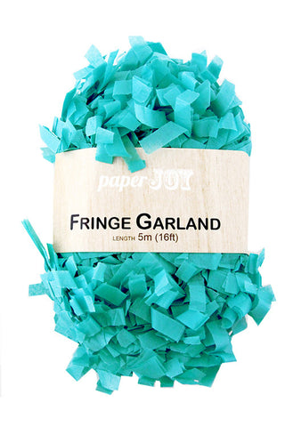 Teal Fringe Garland - The Little Things