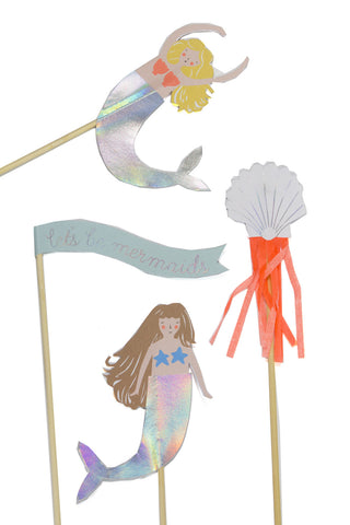 Let's Be Mermaids Cake Topper - The Little Things