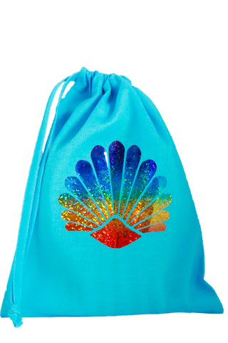 Sea Shell Fabric Party Bag (pack of 5) - The Little Things