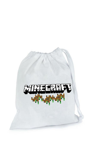 Minecraft Party Fabric Bag - The Little Things