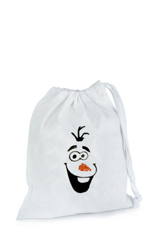 Snowman Fabric Party Bag (Inspired by Olaf)