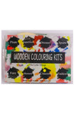 Wooden Dinosaur Colouring Kit