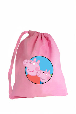 Pig Fabric Party Bag (Inspired by Peppa Pig) - The Little Things
