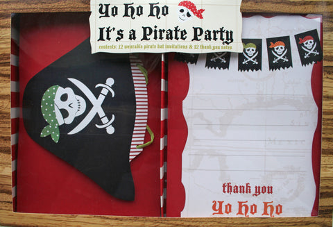 Pirate Invitations (Quantity 12) - The Little Things