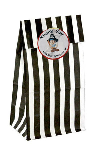 Pirate Black Stripe Party Bag