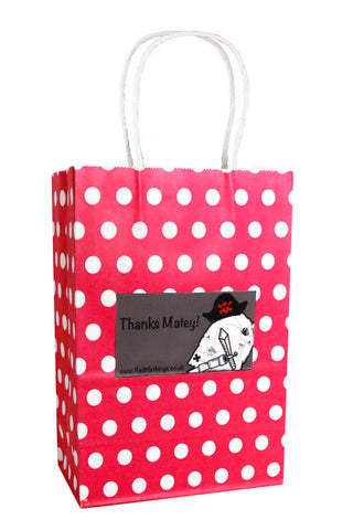 Pirate Red Spotty Party Bag