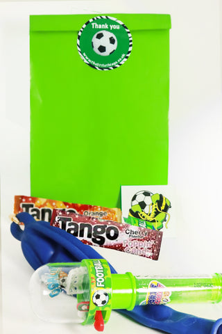 Pre Filled Paper Party Bag - Football - The Little Things