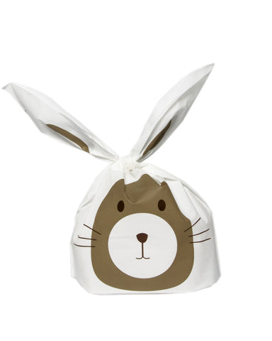Long Eared Brown Bunny Favour Party Bags (Quantity 10) - The Little Things