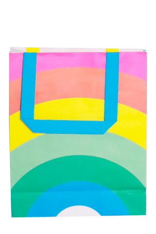 rainbow paper party bag