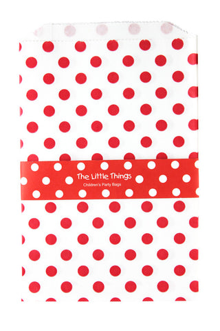 Red Spotty Treat Party Bags (Quantity 12)  - 1