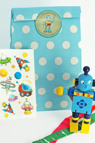 Pre Filled Party Bag - Robot - The Little Things