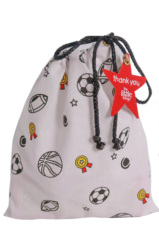 Sports Print Fabric Party Bag