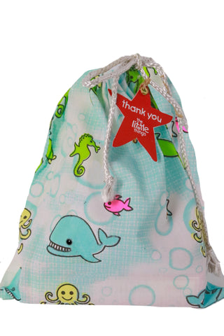 Under The Sea Print Fabric Party Bag
