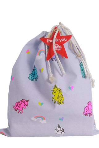 Unicorn Print Fabric Party Bag