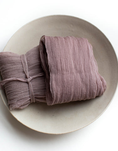 Mauve Crinkle Silk Ribbon