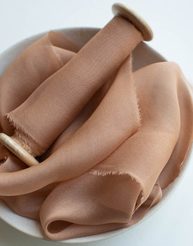 Caramel Gauze Silk Ribbon