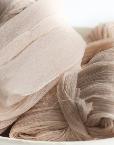 Coquille Crinkle Silk Ribbon