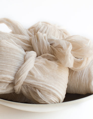 Nacre Crinkle Silk Ribbon