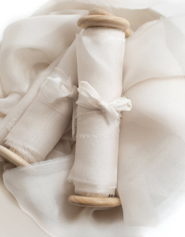 Nacre Gauze Silk Ribbon