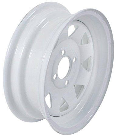 "13"" X 4.5""/ -4""/ White Spoke Wheel - Covered Wagon Trailers"