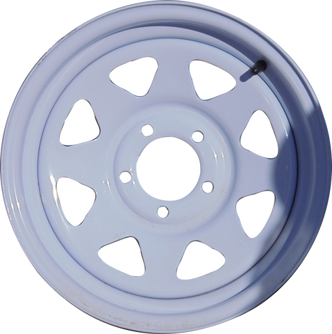 "15"" X 6""/ 5-4.5""/ White Spoke Wheel - Covered Wagon Trailers"