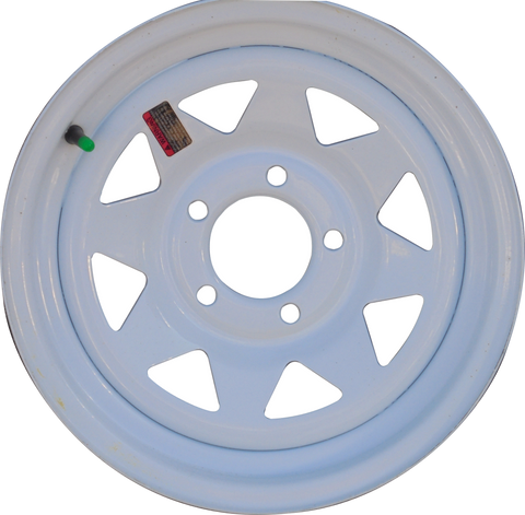 "14"" X 5.5""/ 5-4.5""/ White Spoke Wheel - Covered Wagon Trailers"