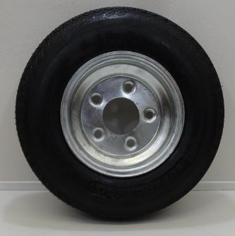 "Supercargo SU02 5.70-8 on 8"" X 3.75""/ 5-4.5""/ Galvanized Wheel - Covered Wagon Trailers"