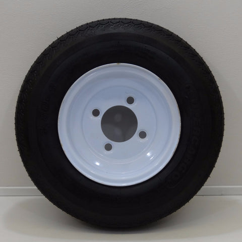 "Supercargo SU03 18.5 X 8.5-8 3 on 8"" X 7""/ 4-4"" Solid  White Wheel - Covered Wagon Trailers"