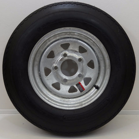 "Supercargo SU02 5.3-12 on 12"" X 4""/ 5-4.5""/ 8 Spoke/ Galvanized Wheel - Covered Wagon Trailers"