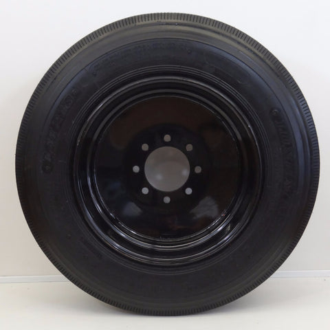 "Longmarch LM216 215/75R17.5 on 17.5"" X 6.75""/  8-6.5""/ Black Wheel - Covered Wagon Trailers"