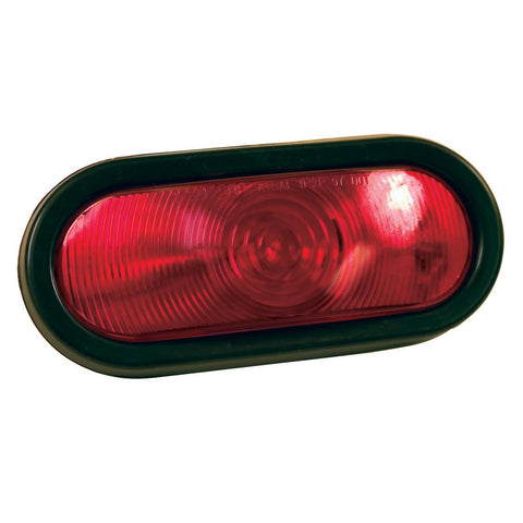 Red Oval Tail Light Incandescent S/T/T - Covered Wagon Trailers