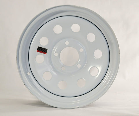 15x5  5-4.5 White Mod Wheel - Covered Wagon Trailers