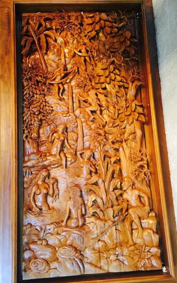 Ramayana Carve From Indonesia Hand Carved Teak Wood