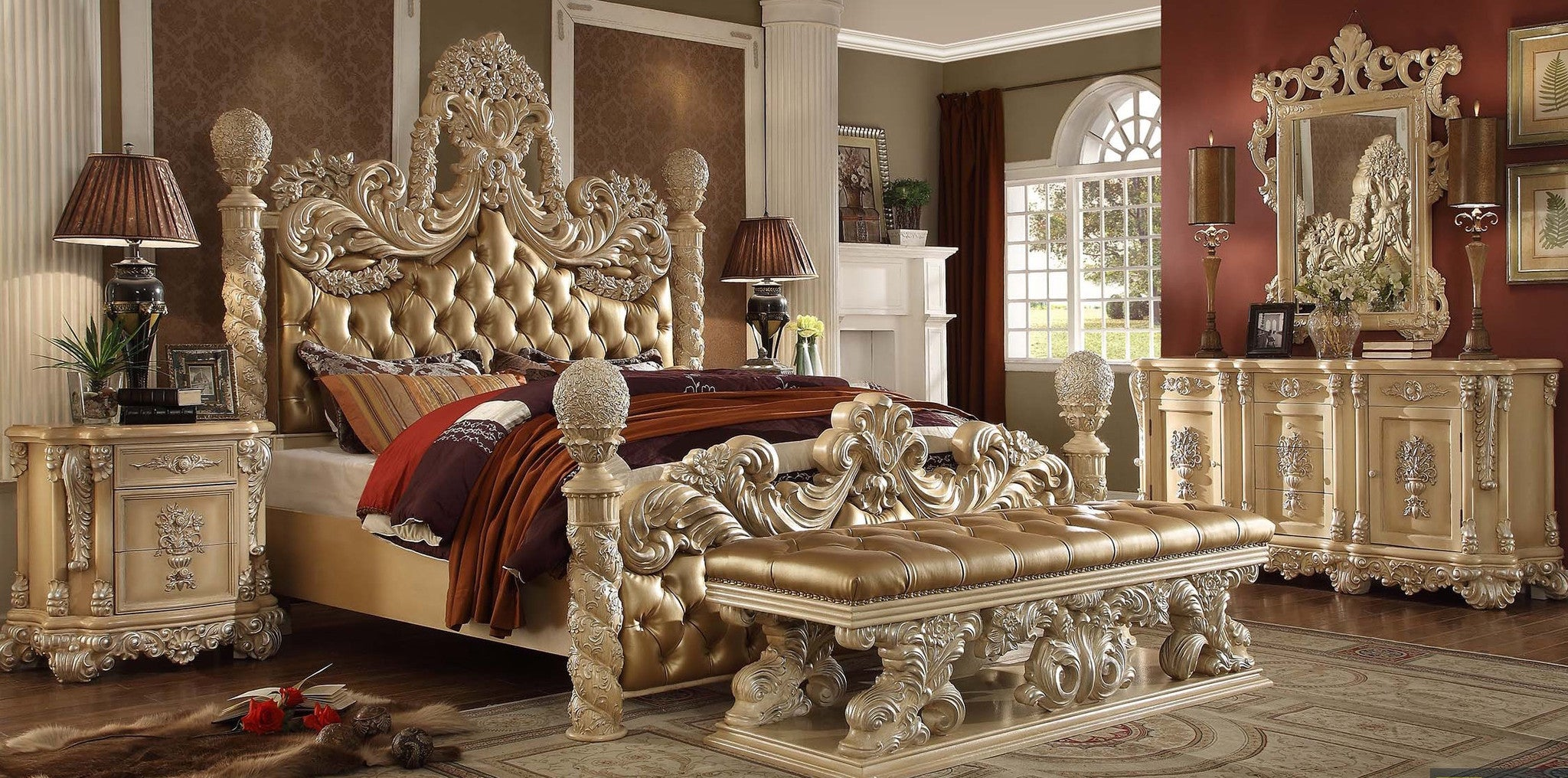 Wood Carving European Style Luxury King Bed Gallery Of
