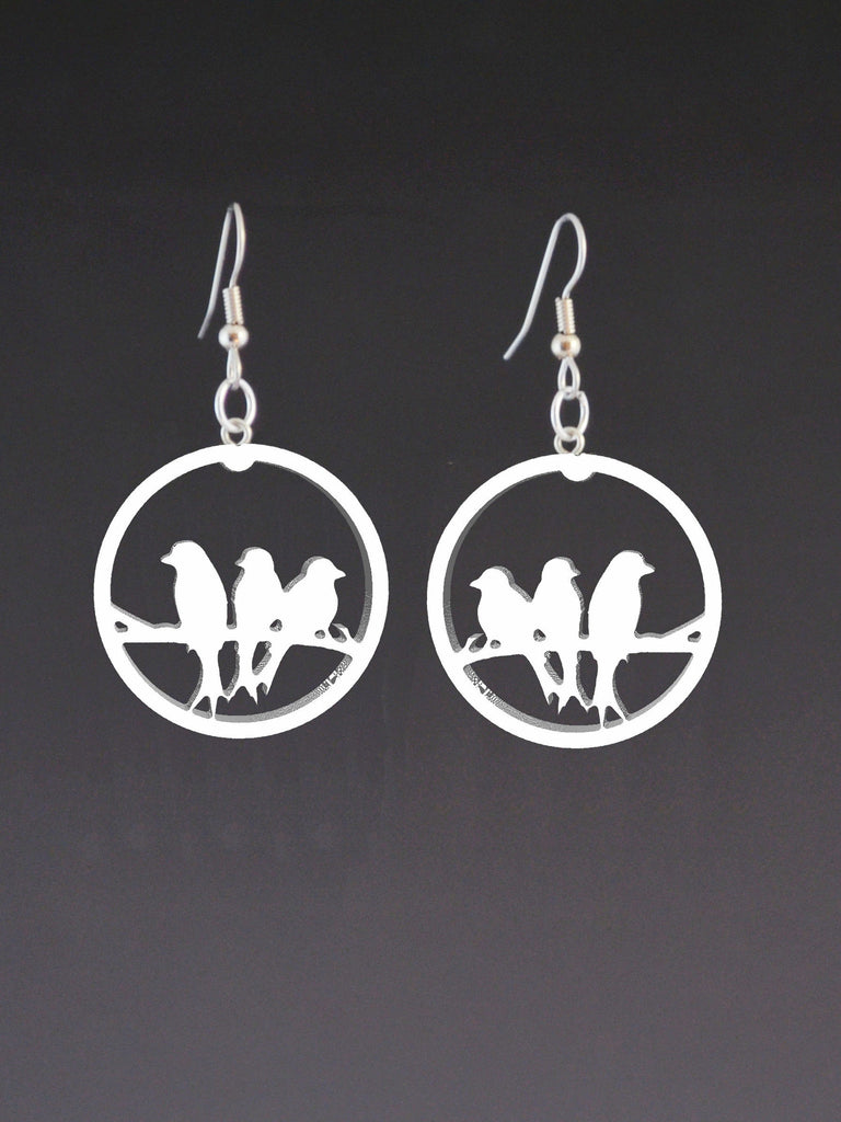 Three Birds Corian Earrings