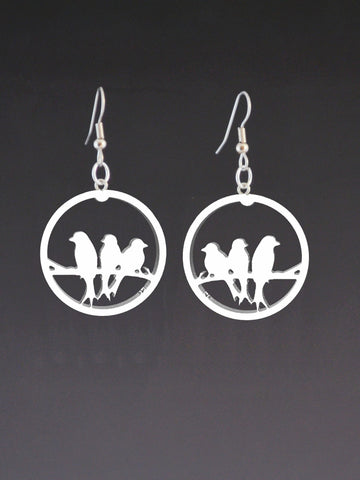 3 Birds Corian Earrings
