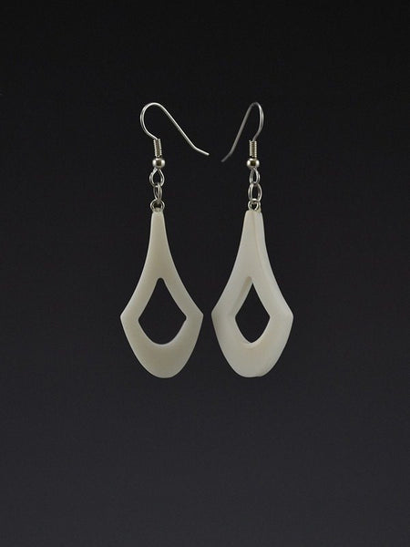 Chevron Large Corian Earrings