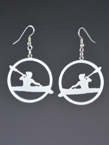 Sports Kayaking Earrings
