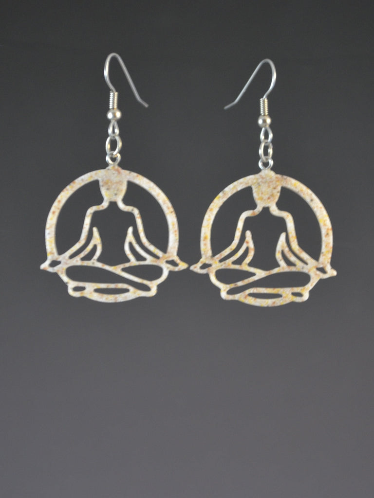 Yoga Lotus Earrings Sand color
