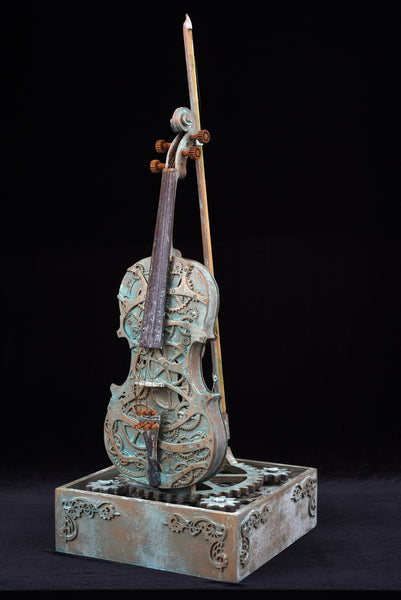 Carved Steampunk Violin, Violin shaped object