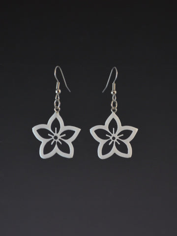 Small Flower Corian Earrings