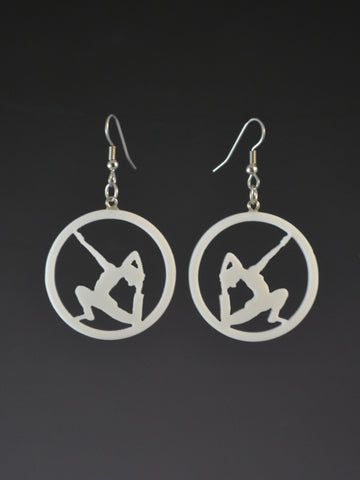 Eka Pada Rajakapotasana earrings