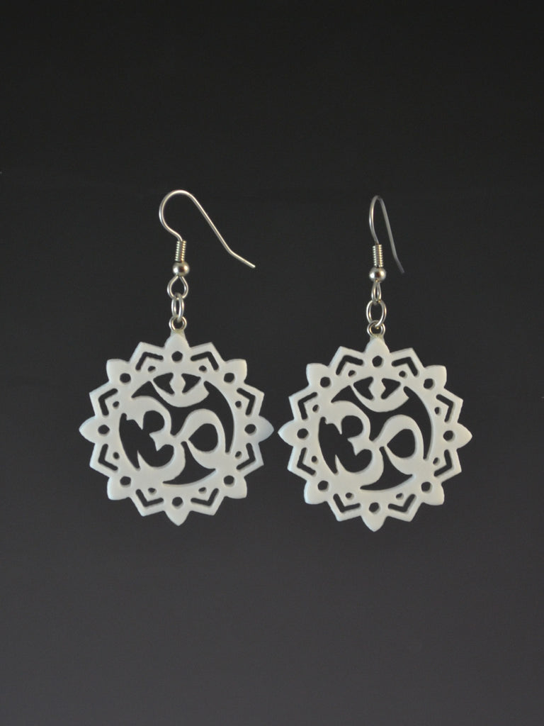 OM earrings ornate