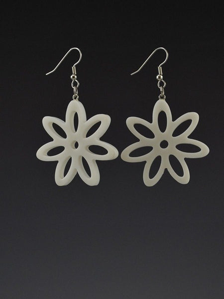 Flower Large Corian Earrings