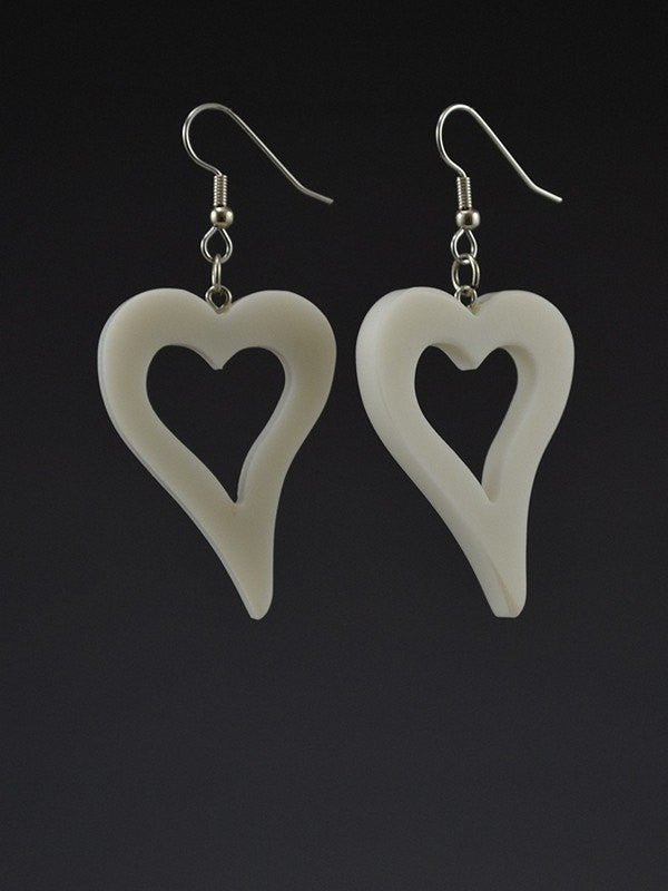 Hearts Large Corian Earrings