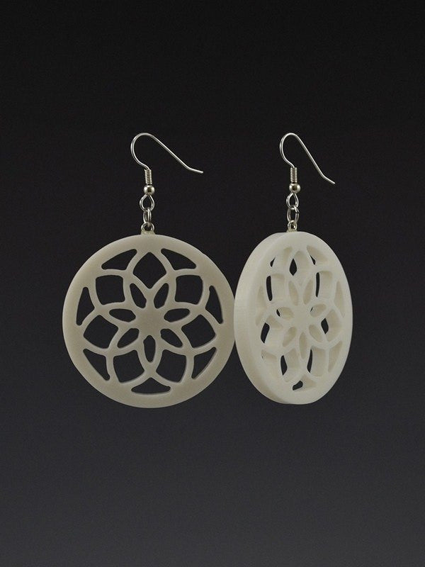 Infinity Flower Corian Earrings